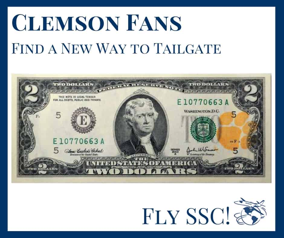 Tailgating with charter flights to greenville sc