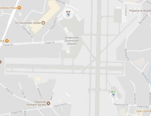New Location at the Greenville Downtown Airport